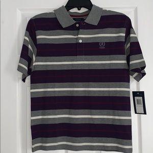 NWT Izod Purple and Grey Polo